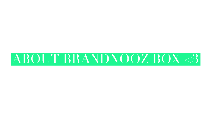 Unboxing Brandnooz Box August